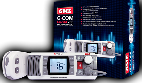 GME Releases New, Compact VHF Marine Radio